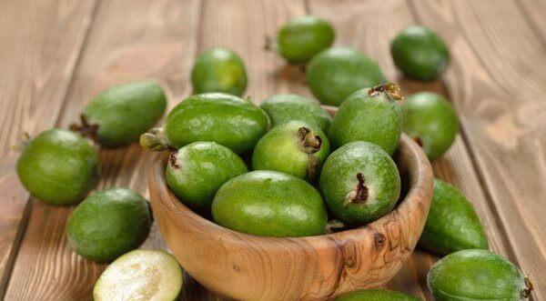 Как выглядят плоды фейхоа?
