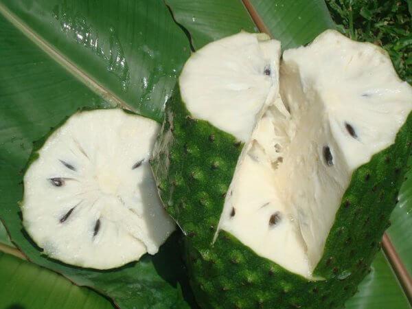 аннона, плод, внутренний состав